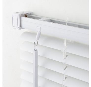 Alu Jalousie Faltstore Lamellen Aluminium Metall Rollo Weiß Plissee Länge 220 cm