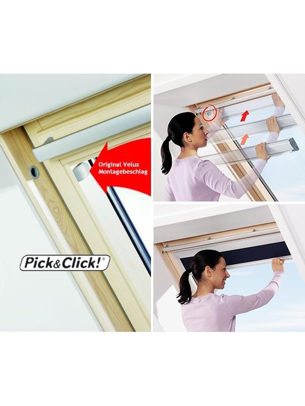 Velux Set Sichtschutzrollo mit Haltekrallen Hitzeschutz-Markise ROP GGL GHL