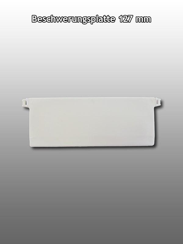 10 Lamellenvorhang Beschwerungsplatte für Lamelle 127mm mit Verbindungs Kette