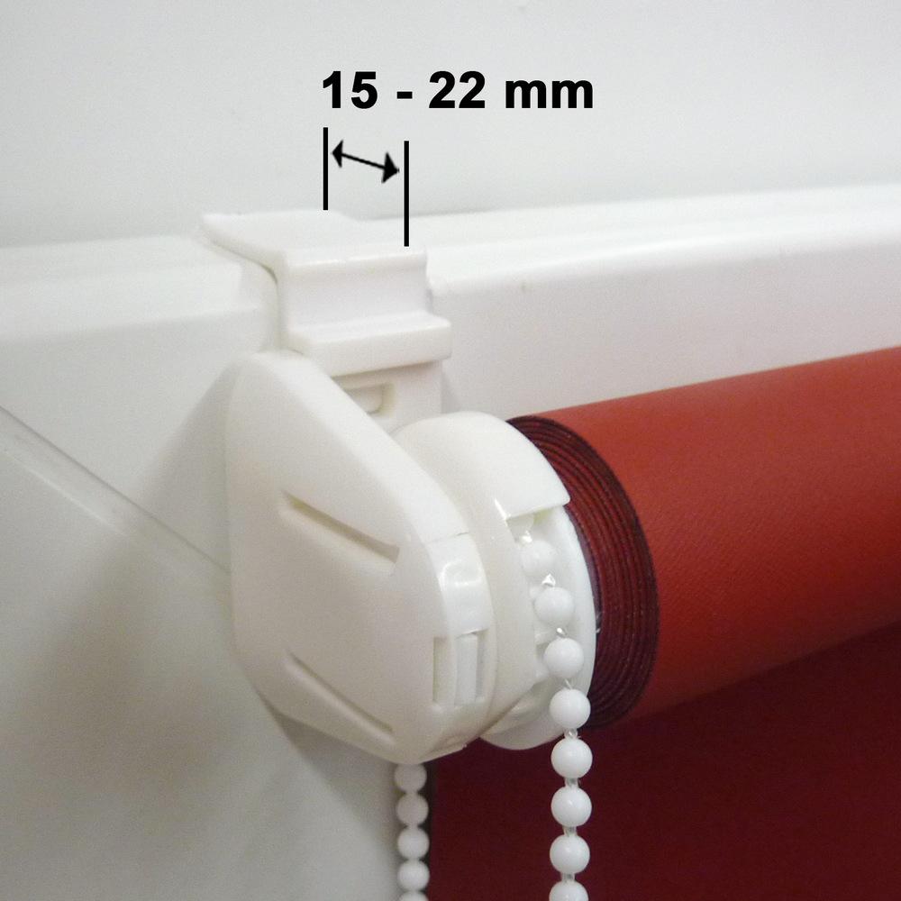 Minirollo Klemmfix Rollo Verdunkelungsrollo Höhe 130 cm mittelblau